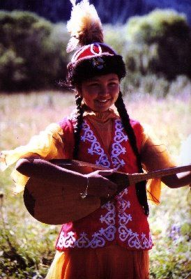 Traditional Kazakh girl =)