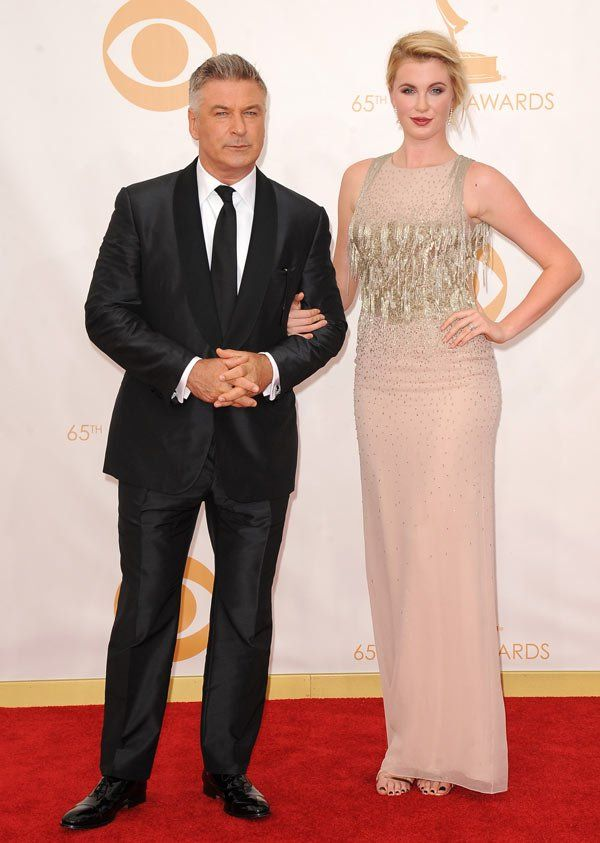 Alec Baldwin Attends 2013 Emmys With Daughter Ireland Baldwin