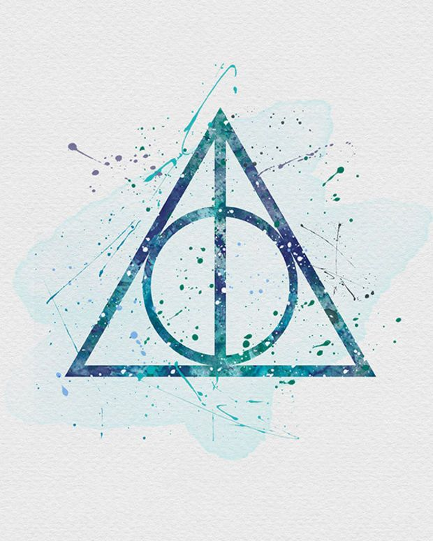 Harry Potter The Deathly Hallows Watercolor Art