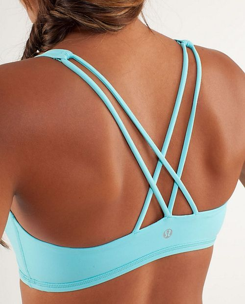 lululemon sports bra: those straps!  I bought this bra and is the perfect amount of support! And super cute!!