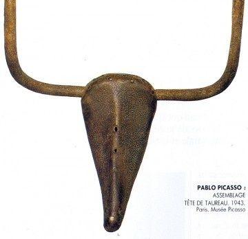"""Pablo Picasso, """"Tête de taureau"""", 1943, assemblage"""