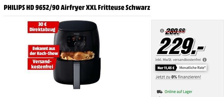 Philips Hd 9652 90 Airfryer Xxl Fritteuse In Schwarz Kuche Und Haushalt Fritteuse Kuche
