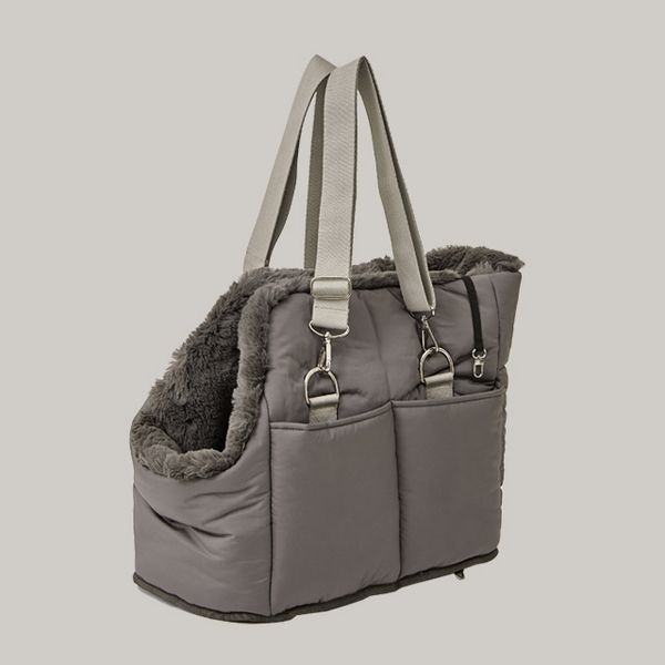Reversible Carry Bag Charcoal Brown 가방 제품 애견