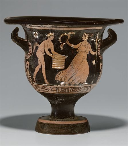 AN APULIAN RED-FIGURED BELL-KRATER ATTRIBUTED TO THE LUCERA PAINTER, CIRCA 340-320 B.C.