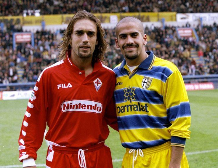 Fiorentina - Parma FC  G Batistuta - S Veron #Winner #Legend #Historique #Throwback #Fila #Champion #ParmaFC #9ine @Parma