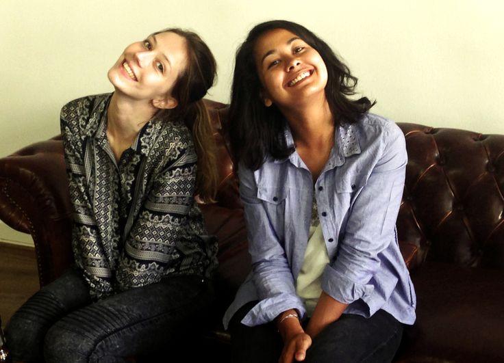Maya et Jennifer - pot de départ de Jeanne