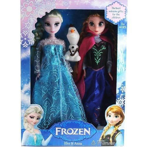 "FROZEN DOLLS NEW 3PCS ELSA & ANNA OLAF TOY DOLL BARBIE FIGURE SET 12"" PLAYSET i love frozen"