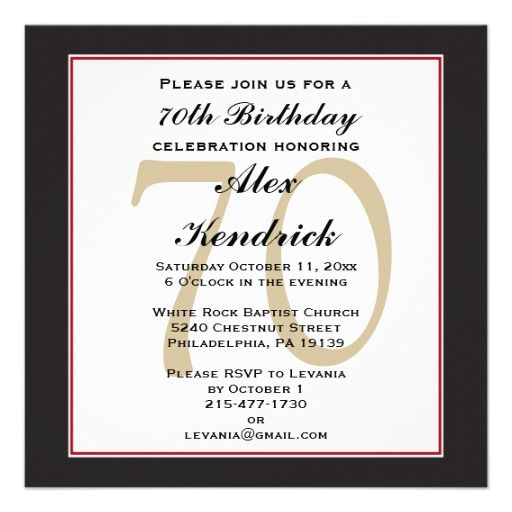 77 best 70th birthday surprise !!! images on pinterest | 70th, Birthday invitations