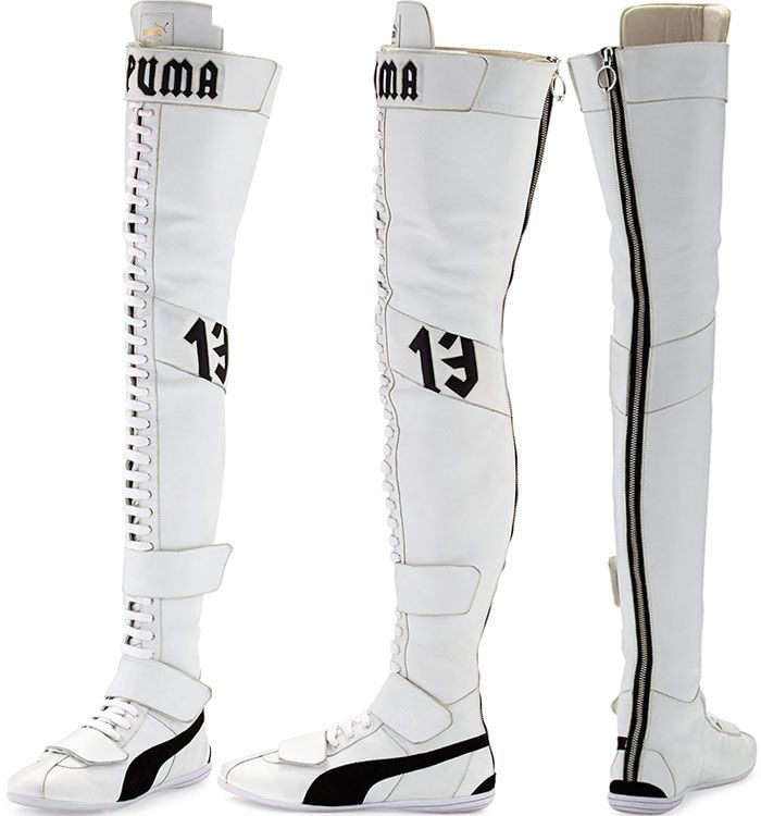 Fenty Puma by Rihanna Eskiva Leather Over-the-Knee Sneaker Boots