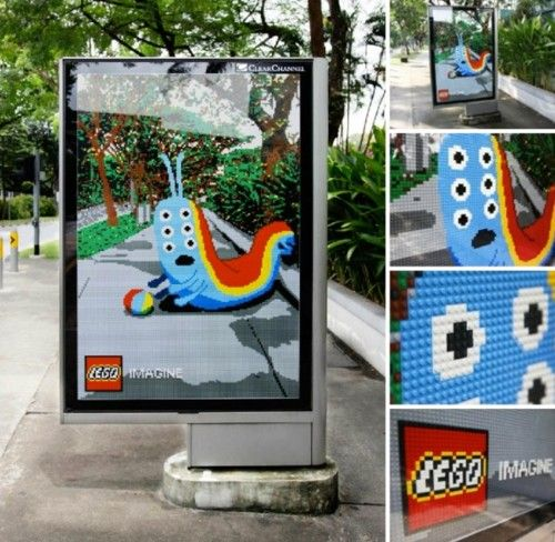 Lego Ambient Advertising  http://www.arcreactions.com/services/online-marketing/