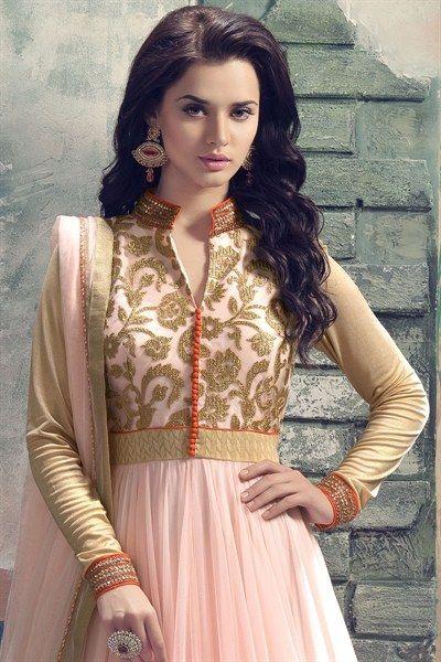 Light Pink Flared Anarkali Set