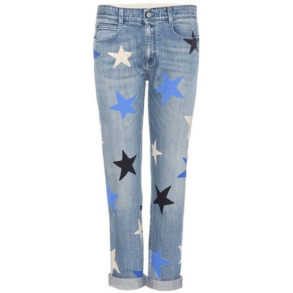 Stella McCartney Cropped Printed Jeans