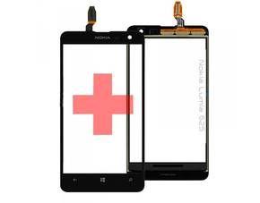 Reparatur Glas für Nokia Lumia 625 u. Touchpanel Flex Kabel Displayglas Schwarz