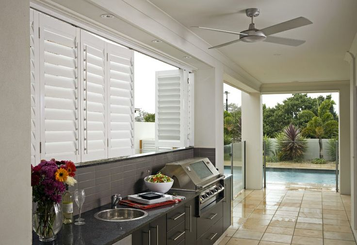 By-pass shutters are ideal if you're interested in using plantation shutters as a room divider, or to separate living spaces. This system allows shutter panels to slide from left and right. By-pass shutter systems accommodate window and door openings.