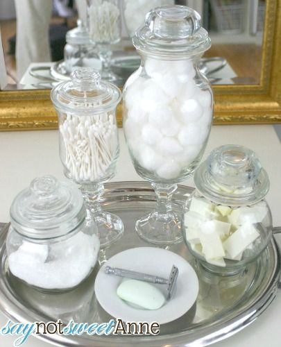 diy apothecary jars for a bathroom say not sweet anne
