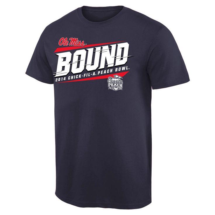 Ole Miss Rebels 2014 Peach Bowl Bound Skyward T-Shirt - Navy Blue - $16.14