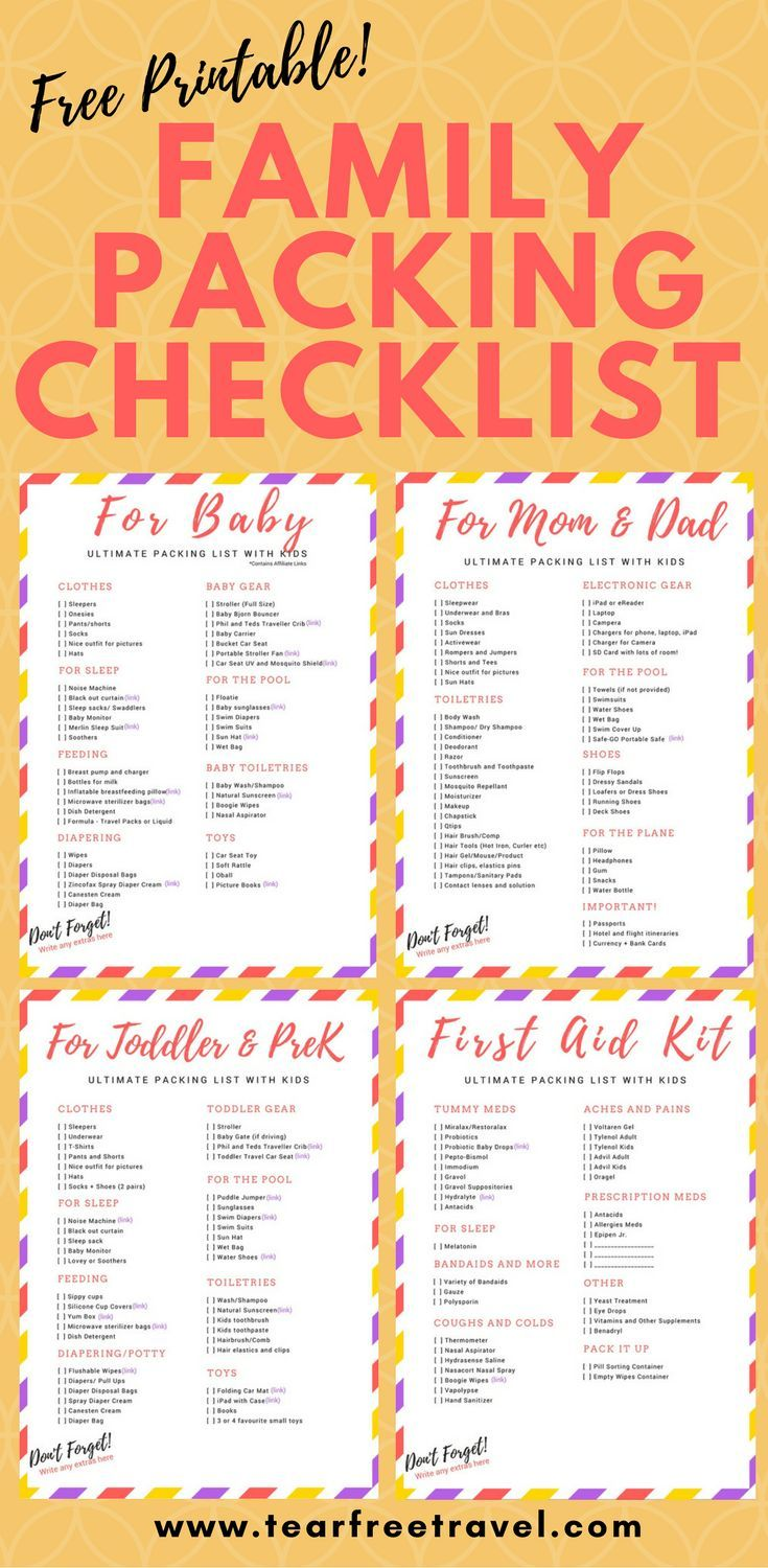 The Final Printable Household Trip Packing Guidelines Family Vacation Packing Family Vacation Packing List Holiday Packing Lists Family vacation packing list template