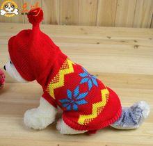 camisolas para cães roupas da moda inverno vermelho preto pequeno cão agasalhos com capuz para 2013 novos(China (Mainland))