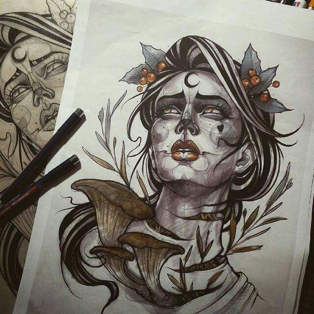 Pinterest tattoo for Ravens face tattoos