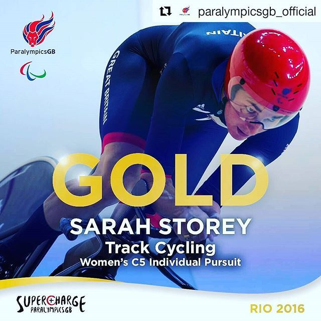 #Repost @paralympicsgb_official with @repostapp ・・・ History made. 12th Gold. Most successful female Paralympian ever. Ladies and gentleman Sarah Storey  #Rio2016 #ParalympicGames #teamgb #BringOnTheGreat #Supercharge #Cycling
