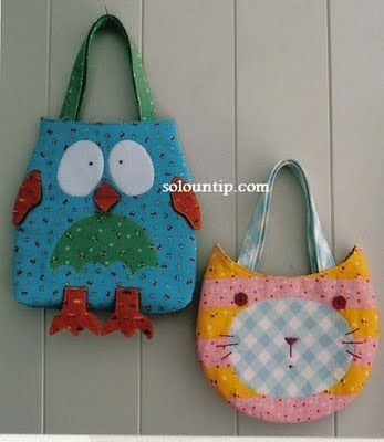 own and cat shaped tote bags