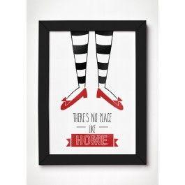 O Mágico de Oz nos ensinou que não há lugar como a nossa casa. Compre o seu poster agora mesmo!