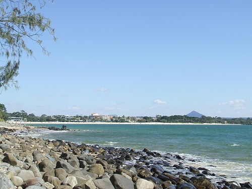 looking back to hastings street from Noosa national park.