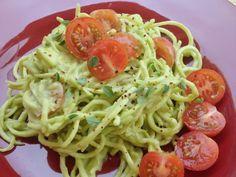 Raw food recipe zucchini pasta alfredo spiralized zucchini spicy chipotle zucchini pasta raw vegan gastrawnomica forumfinder Gallery
