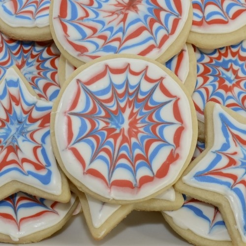 Fireworks Cookies {Sweet Pea's Kitchen} These would be cute for Canada ...
