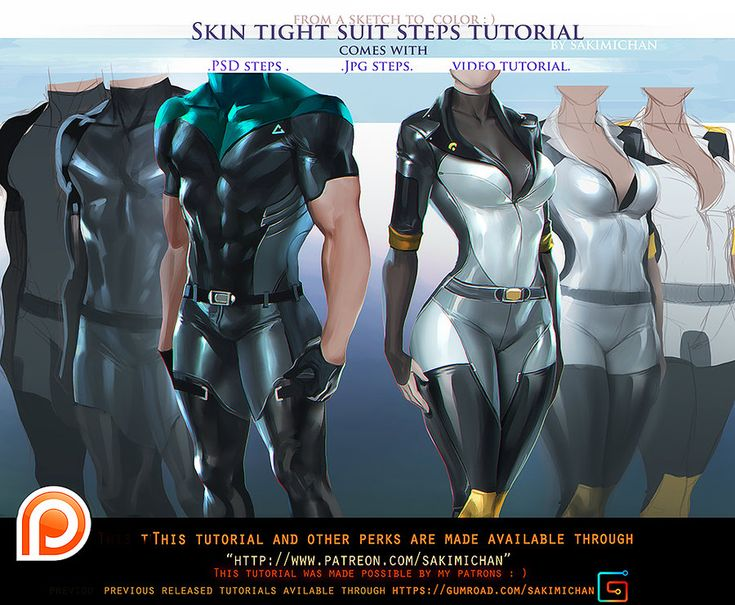 Skin Tight suit steps tutorial pack.promo. by sakimichan.deviantart.com on…