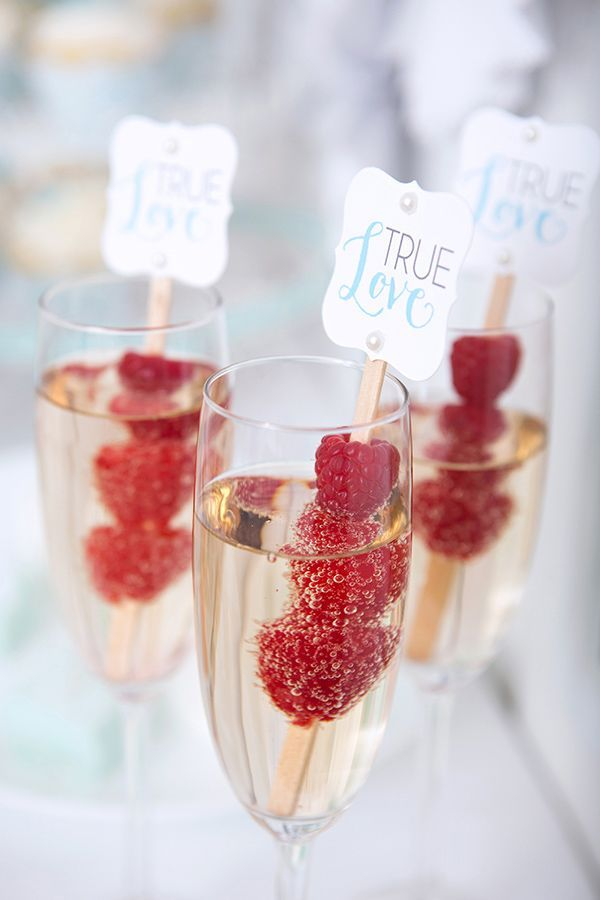 Champagne framboise mariage