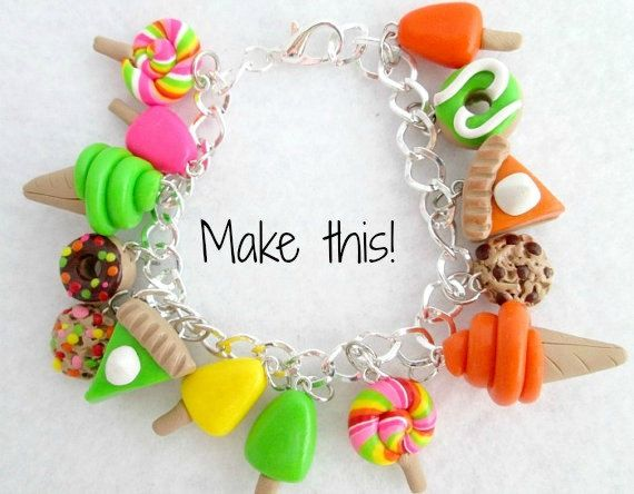 Diy Charm Bracelet Make Your Own Kit Pinterest Clay Charms Polymer And