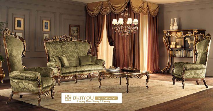 Set Kursi Sofa Tamu Mewah Klasik Jepara Sofa Model Baru