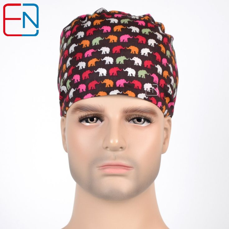 Hennar surgical caps for men and  women,three sizes for choices with sweatband 100% cotton Medical caps