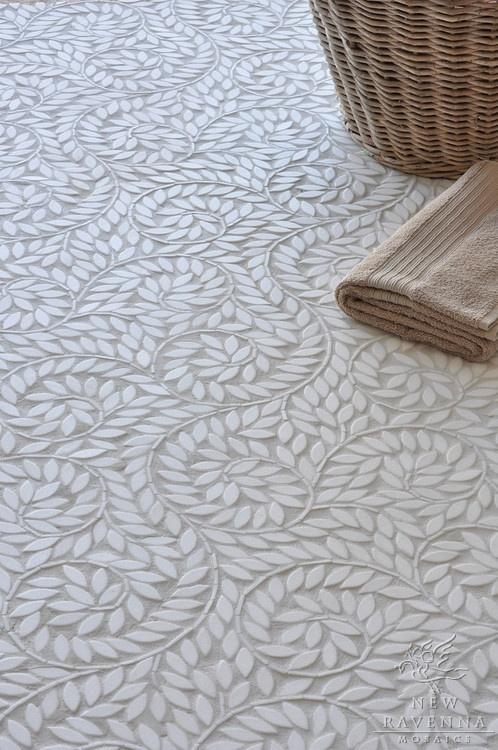 Gorgeous floor mosaic: New Ravenna Mosaics. Marble silk road jacqueline vine.Ideas, Jacqueline Vines, Mosaic Tile, Silk Roads, Nature Stones, Mosaics Floors, Ravenna Mosaics, Mosaics Tile, Contemporary Bathroom