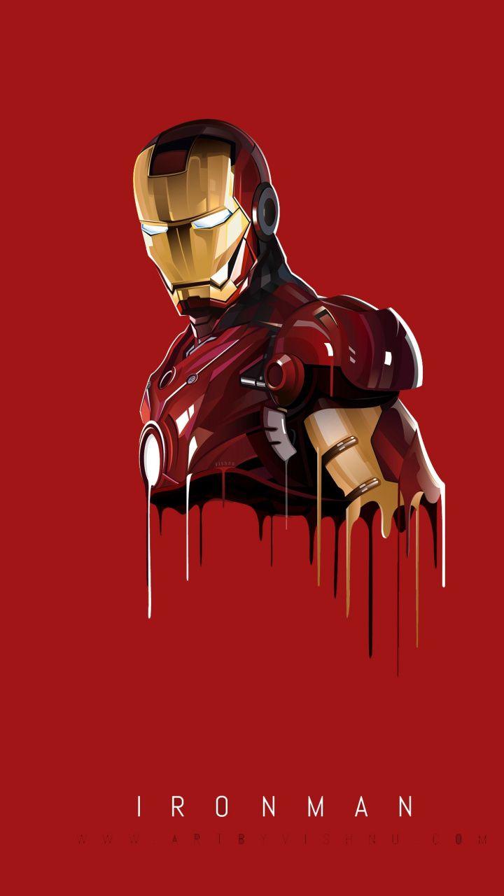720x1280 Iron Man Minimal Art Wallpaper Illyustracii Komiksov Marvel Zheleznyj Chelovek Mstiteli