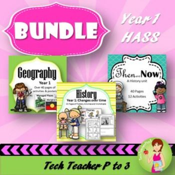 Contained in this bundle is EVERYTHING you need to teach Year 1 Geography and History to meet the Australian Curriculum Standards (ACARA).This bundle consists of the following products:HASS History Unit Year 1 Family Roles and Structures; changes over time.HASS Then and Now History Unit - 40 pages, 12 Activities and Diorama Flip Book.HASS Geography Unit Year 1 Places and Spaces; natural, managed and constructed.Please study the preview images by following the links to ensure you understand…