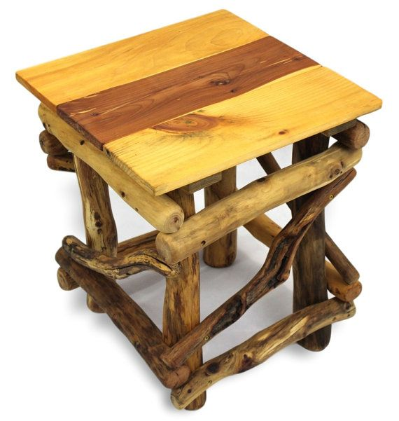 Beautiful Rustic Side Table Reclaimed Wood Table Rustic Home By WoodzyShop