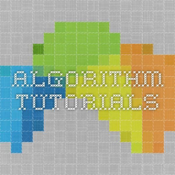 Algorithm Tutorials