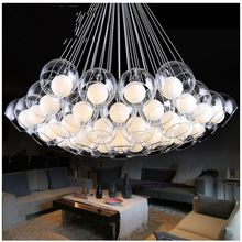 Modern Glass Chandelier for Dinning Room Personalized Living Room Bedroom Aisle Restaurant  LED Bubble Ball Chandelier Lamps(China (Mainland))