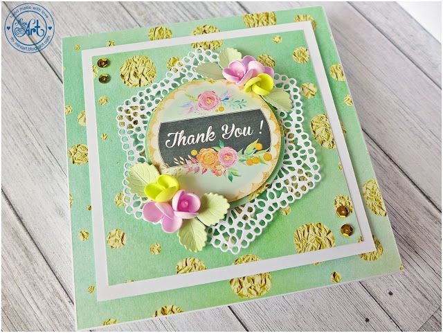MiniArt - hand made with love: Kartki z podziękowaniem / Thank you cards - DT Craft Passion