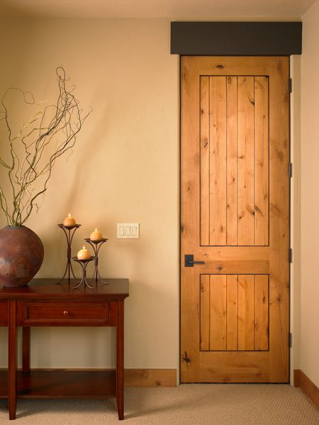 Knotty Alder 1 3 4 Interior Door 2 Panel Plank Square