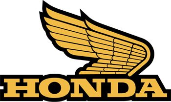 The Honda motorcycle logo is based upon depictions of classical statues of Nike