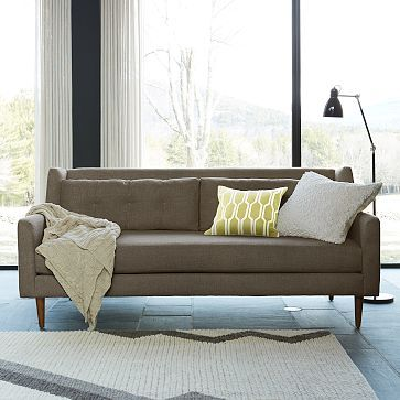 Crosby Sofa #westelm, Kev's preferred color Pebble Weave Shale. $1349 - 25% discount + $100 shipping + tax = $1200