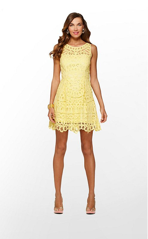 Lilly Pulitzer S Foley Lace Dress Starfruit Yellow Batt Your Eyes Nwt.  Summer Dresses For WeddingsYellow ...