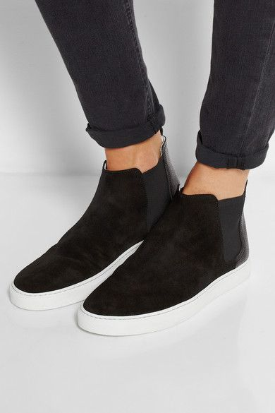 Lanvin suede high-top slip-on sneakers