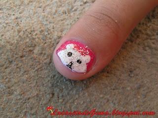 La casita de Gema: Tutorial uñas Nº3 (NAIL ART para niña) Osito polar