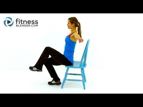 ▶ Workout at Work - Low Impact Total Body Chair Workout Routine by FitnessBlender.com - YouTube