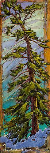 David Langevin, 'Up Right', 20'' x 60'' | Galerie d'art - Au P'tit Bonheur - Art Gallery