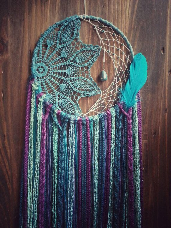 Hey, I found this really awesome Etsy listing at https://www.etsy.com/listing/292640315/mermaid-boho-dream-catcher-bohemian